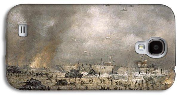 The Tanks Go In - Sword Beach  Galaxy S4 Case by Richard Willis