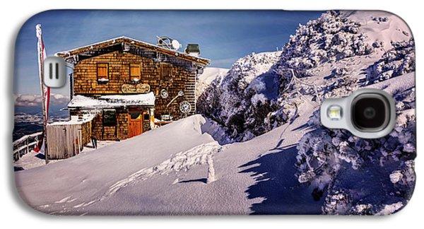 The Tavern On Untersberg Mountain Salzburg In Winter Galaxy S4 Case by Carol Japp