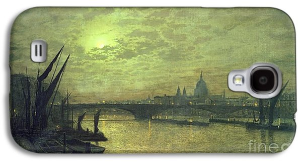 The Thames By Moonlight With Southwark Bridge Galaxy S4 Case by John Atkinson Grimshaw
