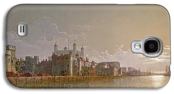 The Thames By Moonlight With Traitors' Gate And The Tower Of London Galaxy S4 Case by Henry Pether
