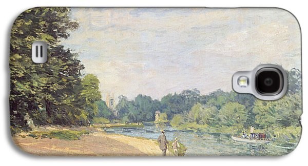 The Thames With Hampton Church Galaxy S4 Case by Alfred Sisley