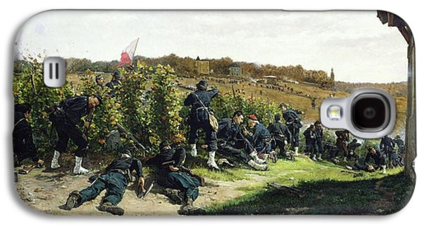 The Tirailleurs De La Seine At The Battle Of Rueil Malmaison Galaxy S4 Case by Etienne Prosper Berne-Bellecour
