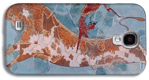 Minotaur Galaxy S4 Case - The Toreador Fresco, Knossos Palace, Crete by Greek School