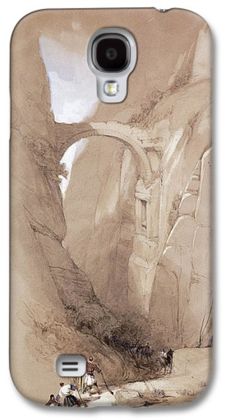 The Triumphal Arch Crossing The Ravine Leading To Petra, 1839 Galaxy S4 Case by David Roberts