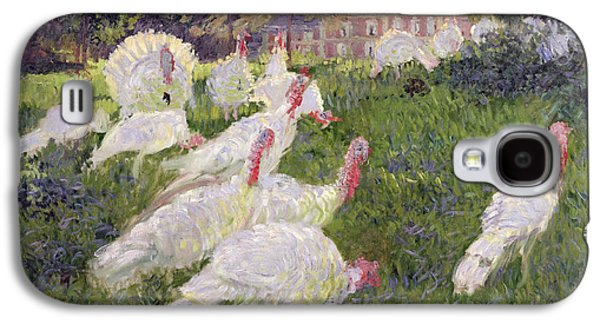 The Turkeys At The Chateau De Rottembourg Galaxy S4 Case by Claude Monet