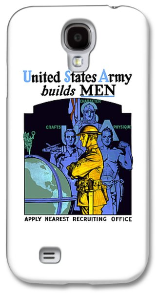 The United States Army Builds Men Galaxy S4 Case by War Is Hell Store