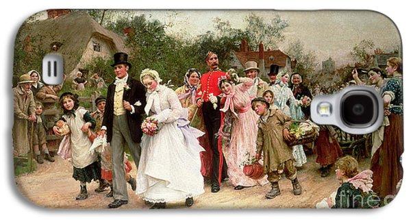 The Village Wedding Galaxy S4 Case by Sir Samuel Luke Fildes