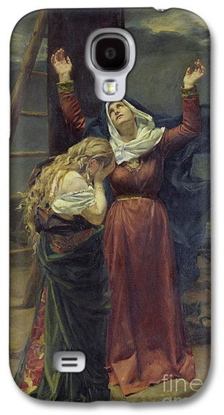 The Virgin At The Foot Of The Cross Galaxy S4 Case by Jean Joseph Weerts
