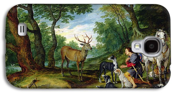 The Vision Of Saint Hubert Galaxy S4 Case by Brueghel and Rubens