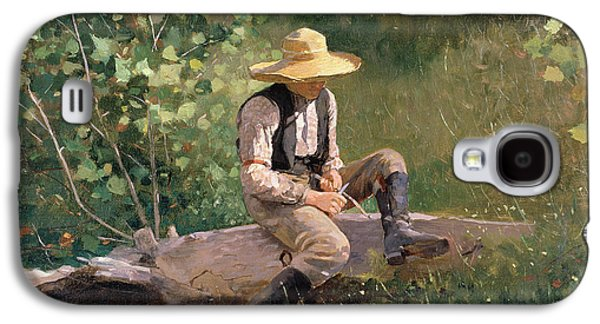 The Whittling Boy Galaxy S4 Case by Winslow Homer