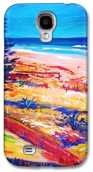 Galaxy S4 Case featuring the painting The Winter Dunes by Winsome Gunning