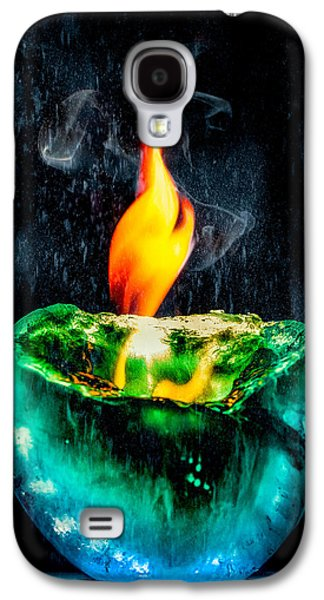 Galaxy S4 Case featuring the photograph The Winter Of Fire And Ice by Rikk Flohr