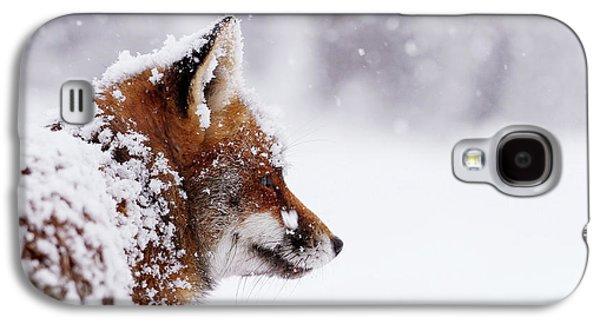 The Winterwatcher - Red Fox In The Snow Galaxy S4 Case