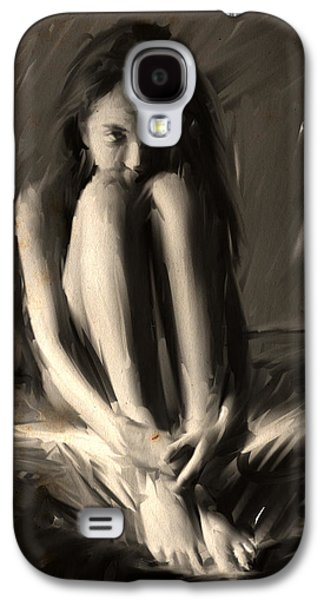 The Wolf Girl Galaxy S4 Case by H James Hoff