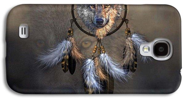 Wolf Spirit Dream Catcher Galaxy S4 Case by G Berry