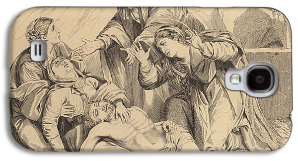 The Women From Galilee Weeping Over The Body Of Christ Galaxy S4 Case by English School