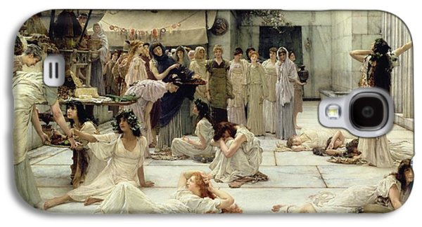 The Women Of Amphissa Galaxy S4 Case by Sir Lawrence Alma-Tadema