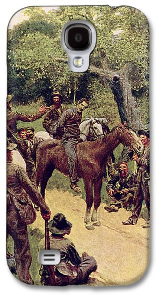 They Talked It Over With Me Sitting On The Horse Galaxy S4 Case by Howard Pyle