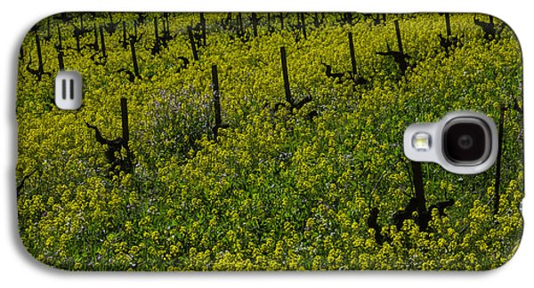 Thick Lush Mustard Grass Galaxy S4 Case by Garry Gay