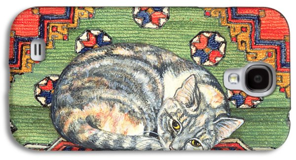 Third Carpet Cat Patch Galaxy S4 Case by Ditz