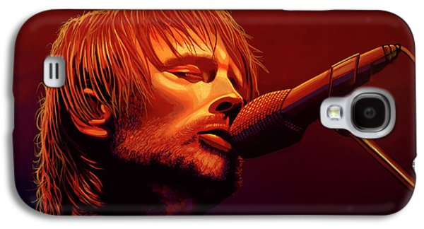 Drum Galaxy S4 Case - Thom Yorke Of Radiohead by Paul Meijering
