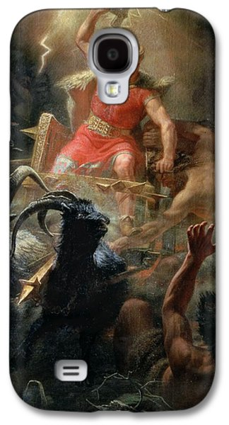 Thor Fighting With The Giants Galaxy S4 Case by Marten Eskil Winge