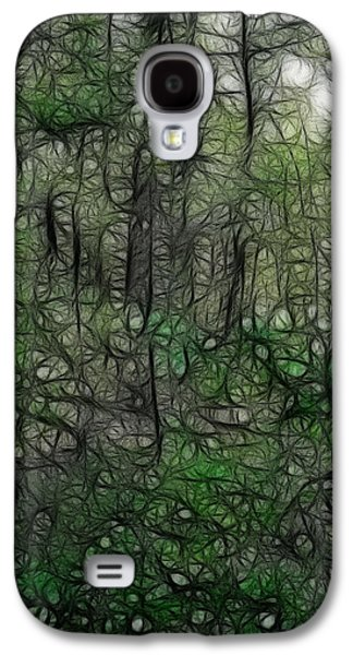 Walden Pond Galaxy S4 Cases - Thoreau Woods Fractal Galaxy S4 Case by Lawrence Christopher