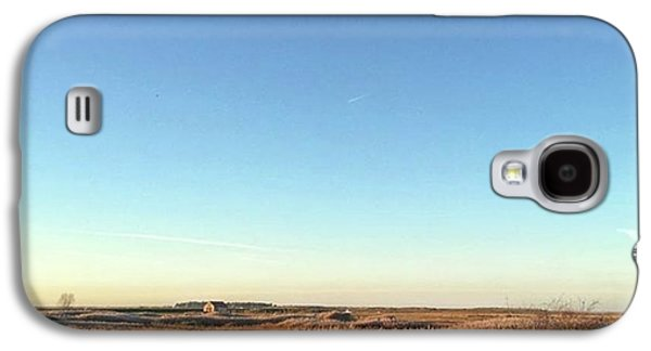 Sky Galaxy S4 Case - Thornham Marsh Lit By The Setting Sun by John Edwards