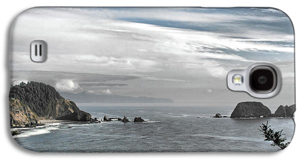 Coast Highway One Galaxy S4 Cases - Three Arch Rocks National Wildlife Refuge near Cape Meares Oregon Galaxy S4 Case by Christine Till
