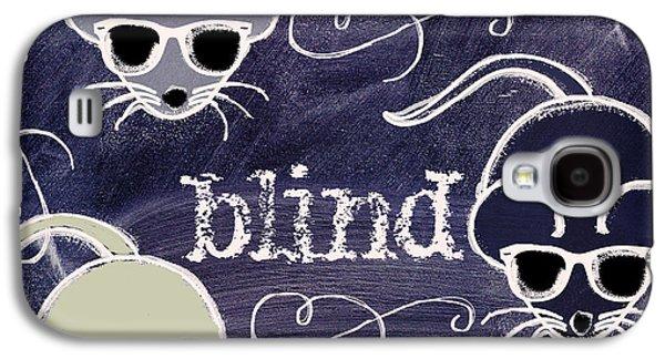 Three Blind Mice Children Chalk Art Galaxy S4 Case