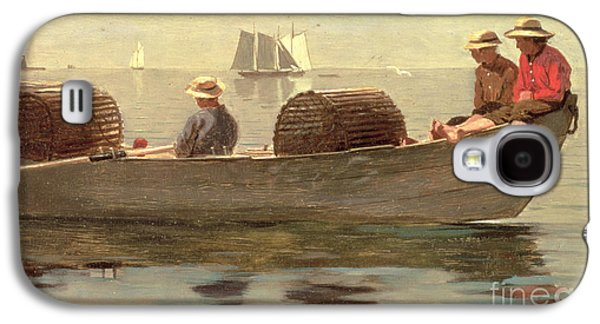 Three Boys In A Dory Galaxy S4 Case by Winslow Homer