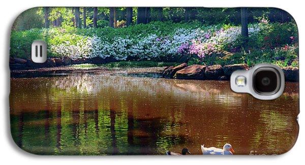Galaxy S4 Case - Three Ducks At The Azalea Pond by Tamyra Ayles
