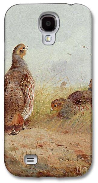 Three English Partridges Galaxy S4 Case by Archibald Thorburn
