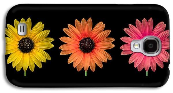 Three Flowers Galaxy S4 Case by Hudson Marsh