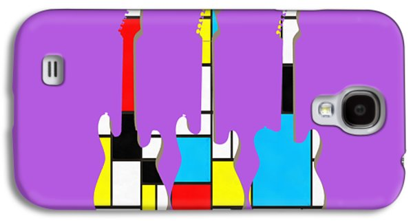 Guitar Galaxy S4 Case - Three Guitars Modern Tee by Edward Fielding