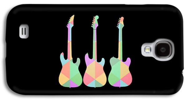 Three Guitars Triangles Tee Galaxy S4 Case by Edward Fielding