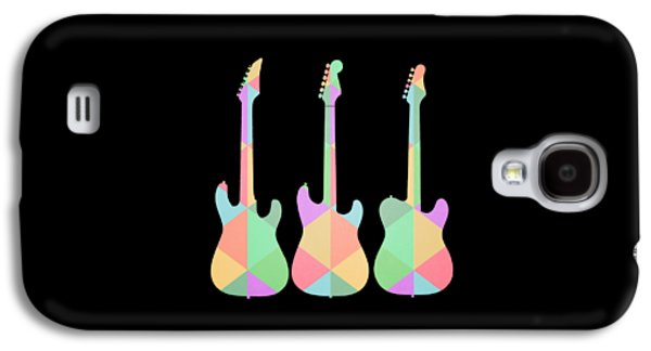 Guitar Galaxy S4 Case - Three Guitars Triangles Tee by Edward Fielding