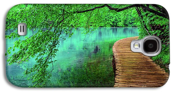 Tree Hanging Over Turquoise Lakes, Plitvice Lakes National Park, Croatia Galaxy S4 Case