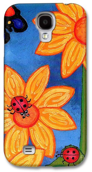 Three Ladybugs And Butterfly Galaxy S4 Case