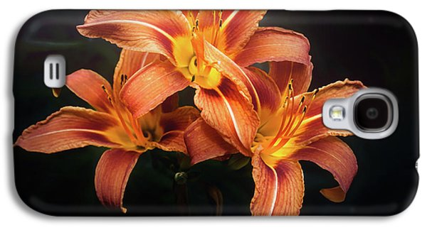 Lily Galaxy S4 Case - Three Lilies by Scott Norris