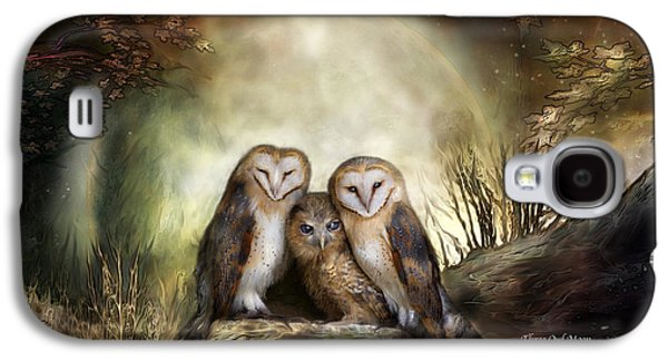 Three Owl Moon Galaxy S4 Case by Carol Cavalaris