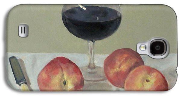 Three Peaches, Wine And Knife Galaxy S4 Case