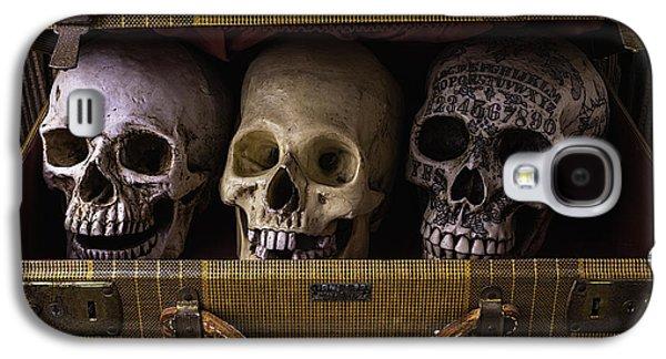 Three Skulls In Suitcase Galaxy S4 Case