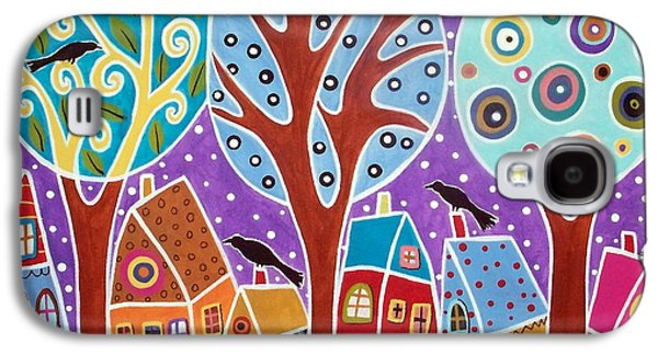 Three Trees Three Birds And Six Houses Galaxy S4 Case by Karla Gerard