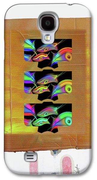 Three Tsunami Kimono Galaxy S4 Case by Charles Stuart