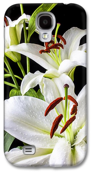 Three White Lilies Galaxy S4 Case by Garry Gay