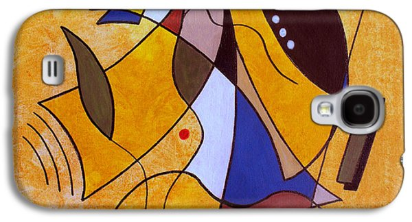 Abstracts Galaxy S4 Cases - Three White Petals Galaxy S4 Case by Ruth Palmer