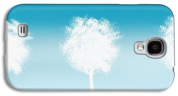 Three White Trees Galaxy S4 Case