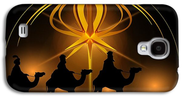 Three Wise Men Christmas Card Galaxy S4 Case by Bellesouth Studio