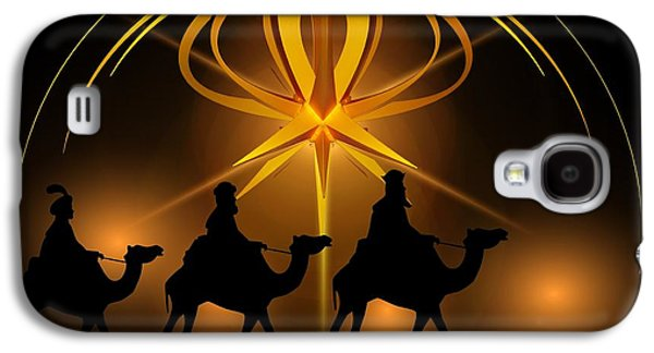 Three Wise Men Christmas Card Galaxy S4 Case